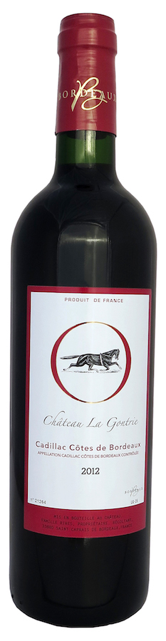 Cadillac Côtes de Bordeaux Rouge 2012 - Château la GONTRIE Bordeaux red wine from Chateau la Gontrie